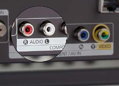 ورودیهای صدای RCA